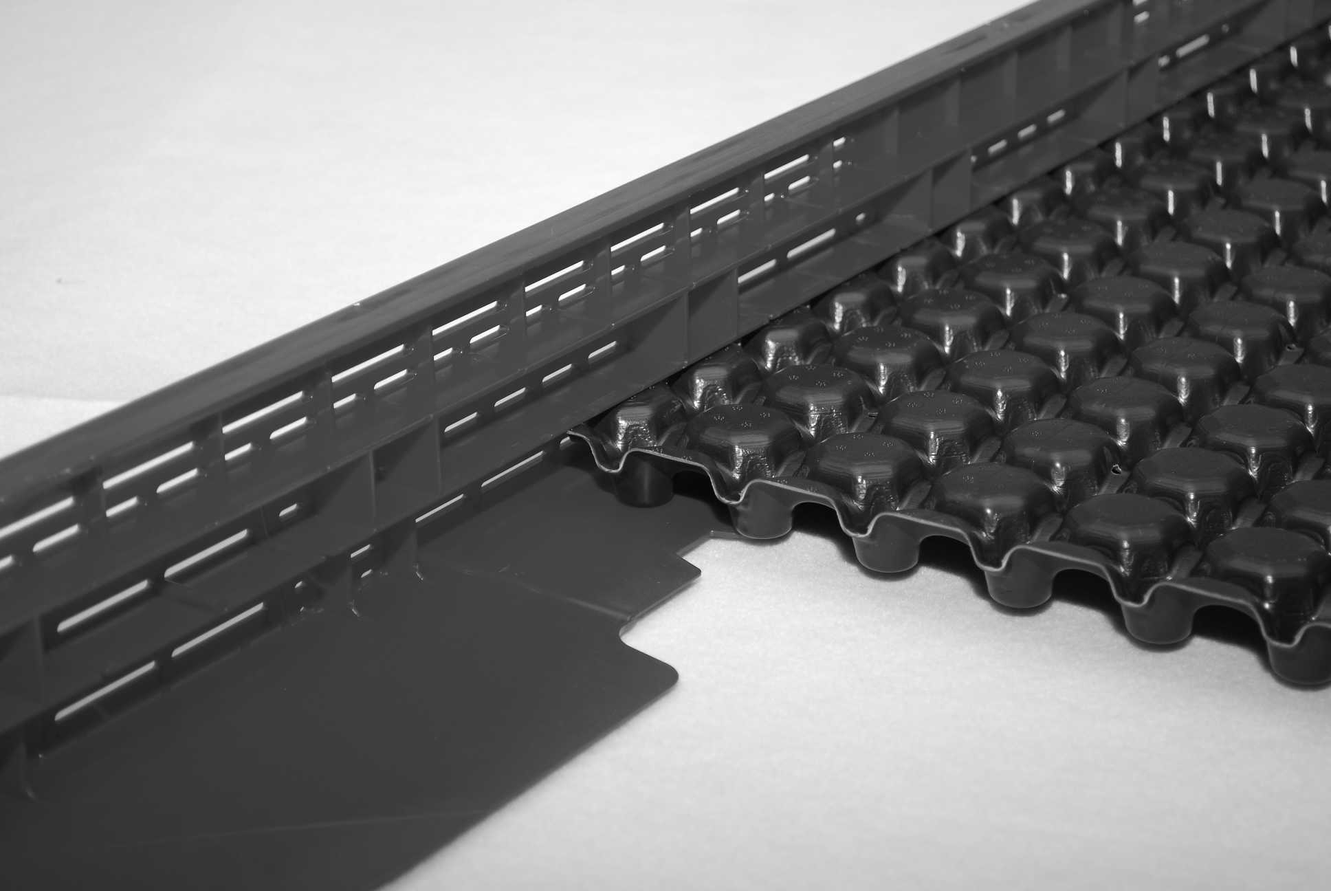 optigr n system kiesleiste skl 120 1100 zubeh r produkte dachbegr nung gr ndach material. Black Bedroom Furniture Sets. Home Design Ideas