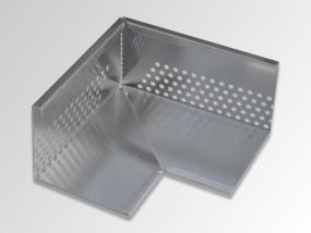 Optigrün-Eckelement für Kiesleiste ZP 100