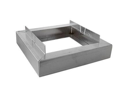 Optigrün-Aluminium-Randkontrollschacht Aufstockung 50mm